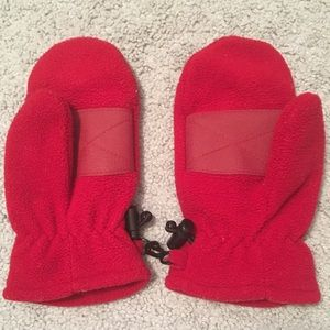 Other - Boys Red Fleece Gloves